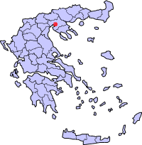 Location of Thessaloniki in Greece